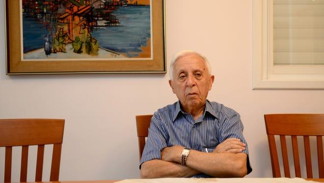 Auschwitz survivor Israel Ernest of Tel Aviv will be 86 years old in December.