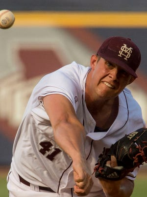 Mississippi State pitcher Zac Houston worked his way into the postseason starting rotation.
