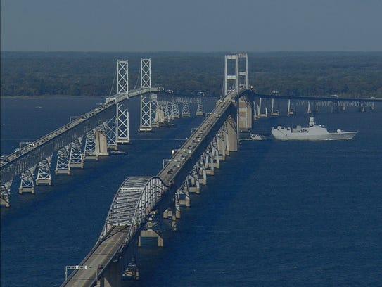 Chesapeake by air The Bay Bridge   Maryland Public