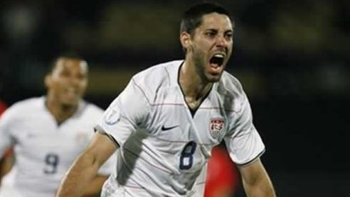 Clint Dempsey celebrates his goal against Ghana on Monday in Brazil.