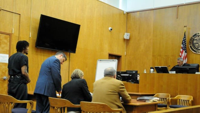 Timothy Calloway, 26, of Salem, was found guilty of murder, first-degree robbery and unlawful use of a weapon in Marion County Court Thursday, June 8, 2017.