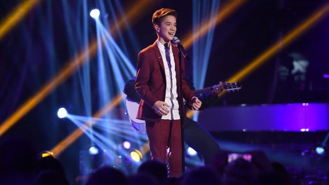 "Daniel Seavey performs on ""American Idol XIV"" April 1 on Fox."