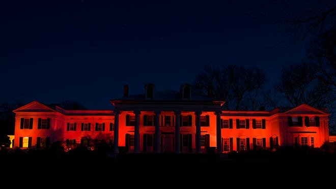 """Drumthwacket, the Governor's official residence in Princeton, will """"go red"""" for the 12th Annual National Wear Red Day on Feb. 6."""