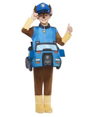 """Chase Ride-along costume from """"Paw Patrol,"""" $19.99 at Spirit Halloween."""