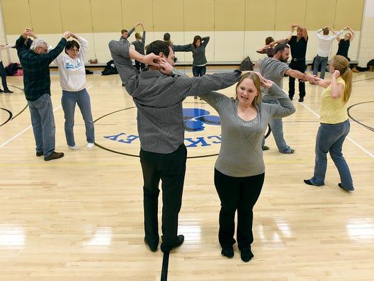 Swing dancing instructors Ben Hiber and Lisa Saari
