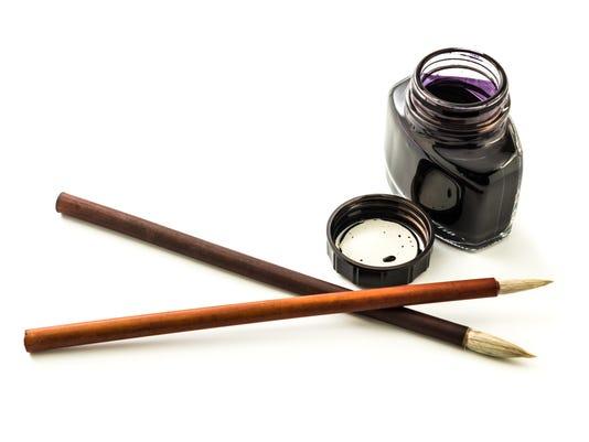 Writing brush and ink