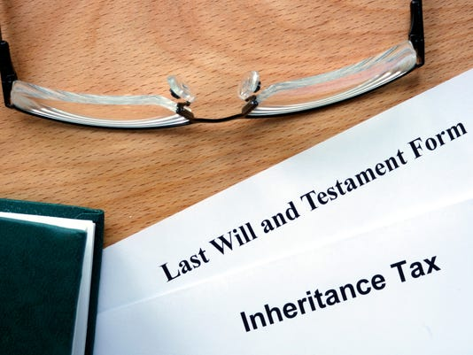 Papers with inheritance tax and testament form