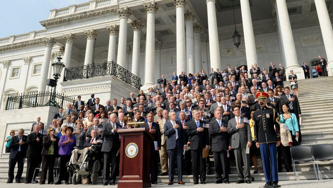 Members of Congress at the Sept. 11 anniversary ceremony.