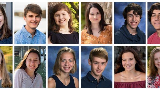 York High School Commencement Scholars 2020 - Top Decile