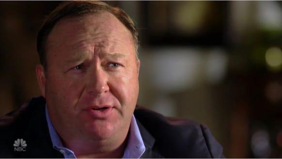Alex Jones is interviewed on NBC's Sunday Night with