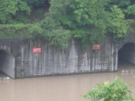 Outfalls in the Genesee River from Monroe County's