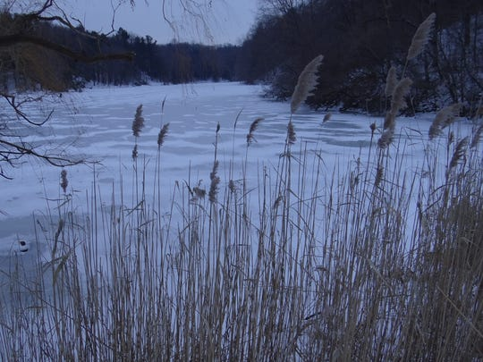 Durand Lake in the winter.