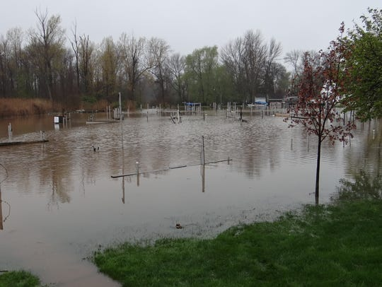 With submerged docks on Sandy Creek, it was impossible