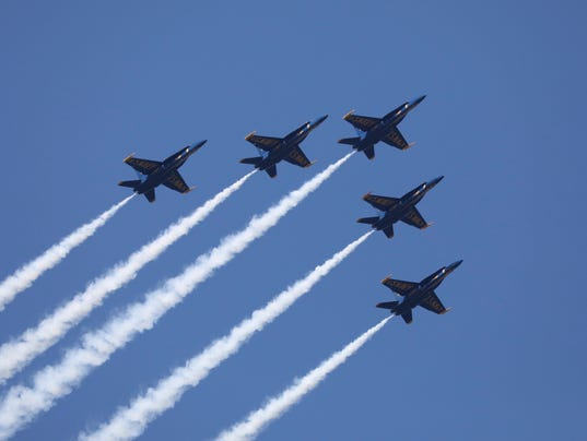 Blue Angels fly past Yonkers