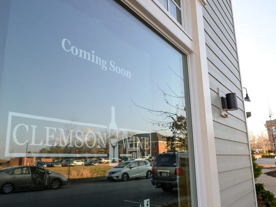 Coming soon is a Clemson Wine Bar at Patrick Square