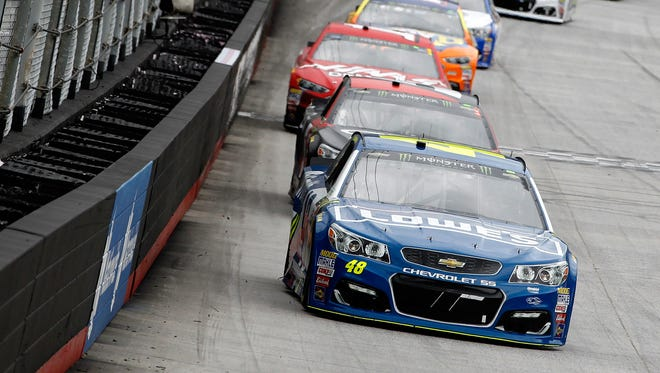 Jimmie Johnson won at Bristol Motor Speedway for the first time since 2010.