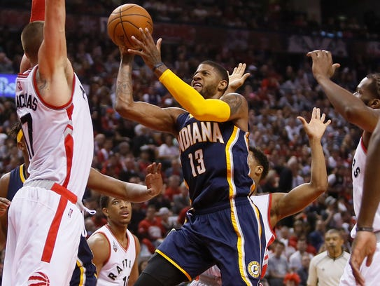 Apr 16, 2016; Toronto, Ontario, CAN; Indiana Pacers