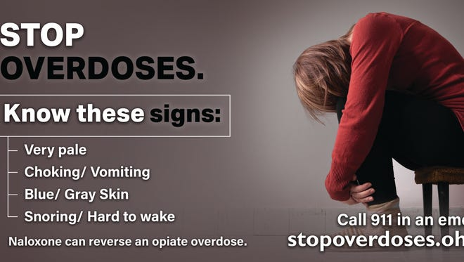 Billboard that will encourage awareness, overdose reversal in Cincinnati and through Ohio. It's a campaign by the Ohio Health Department in light of fentanyl-related overdose deaths.