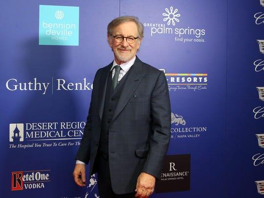 Director Steven Spielberg arrives on the red carpet