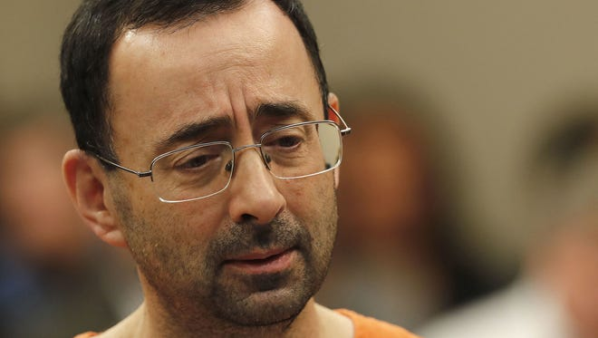Larry Nassar, 54, appears in court Nov. 22, 2017, in Lansing, Mich.