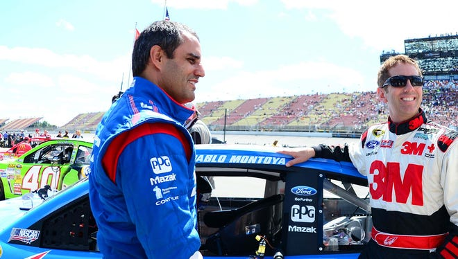 Juan Pablo Montoya  finished 18th in the Quicken Loans 400 at Michigan International Speedway on June 13, in his first Sprint Cup race this year.