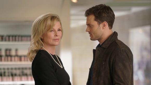 Elena (Kim Basinger) has taught Christian (Jamie Dornan)