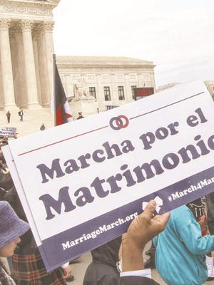 The Supreme Court will decide if the 14th Amendment's equal-protection mandate requires states to allow gay marriages.