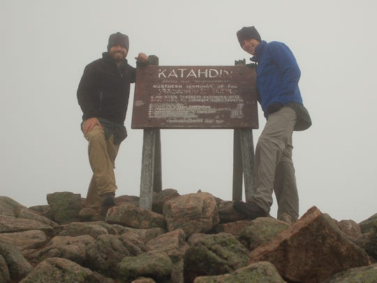 Joe White (left) and Bryan Wolf hiked the Appalachian Trail together in 2007.