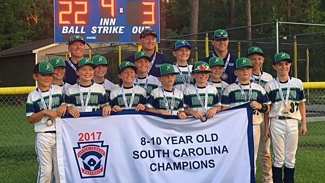 Northwood Little League's Minors (8-to-10-year-old) all-star team won the state championship July 14 in Summerville.