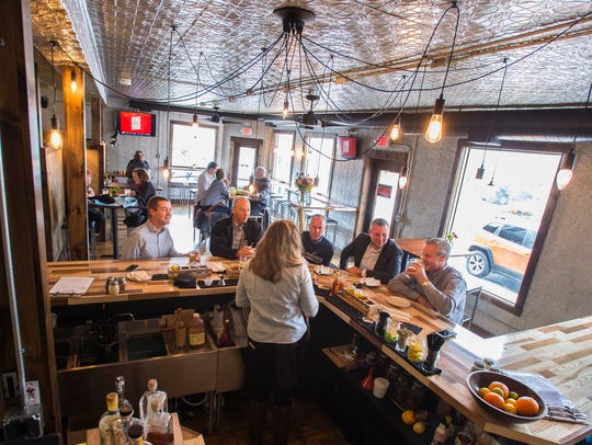 The Hired Hand Brewing Company's tap room in Vergennes