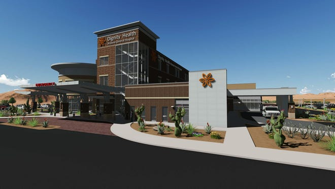 Dignity Health plans to build a three-story hospital at the northwestern corner of Ellsworth and Elliot roads in Mesa.