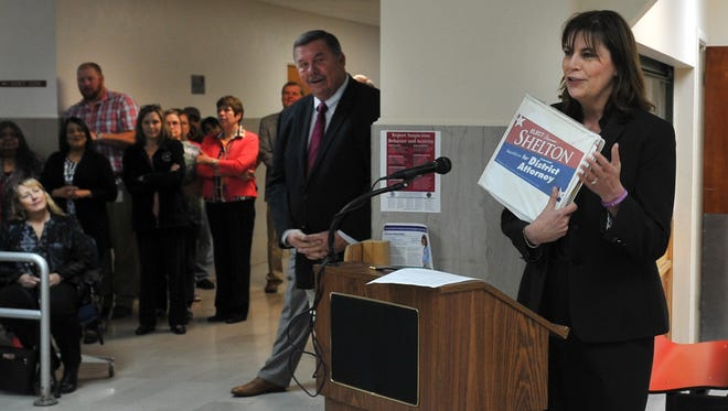 Wichita County district attorney Maurine Shelton announced her plans to seek another term as the D.A of Wichita County during an announcement party held at the courthouse Tuesday morning. Several other public officials announced they would be seeking reelection for their positions in county government.