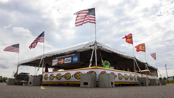 The TNT Fireworks tent is open for business Thursday, June 29, in Sartell.