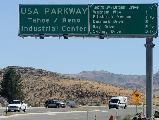The USA Parkway extension opened in September.