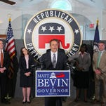 Nominee for Governor Matt Bevin during a press conference at the Republican Party of Kentucky Headquarters in Frankfort, KY. May 29, 2015