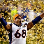 Ryan Harris #68 of the Denver Broncos celebrates after defeating the Carolina Panthers during Super Bowl 50 at Levi's Stadium on February 7, 2016 in Santa Clara, California. The Broncos defeated the Panthers 24-10. (Photo by Al Bello/Getty Images)
