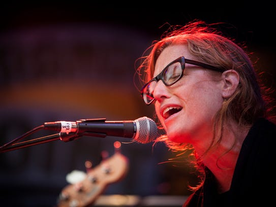 Amanda Gustafson of Swale, shown playing in 2014 at