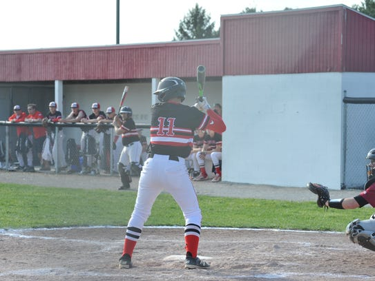 Dylan Goff will be one of the key batters for the Redmen this year.