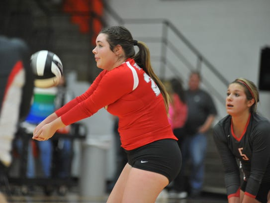 Bailey Agin was among the best in the league in digs and serves received.