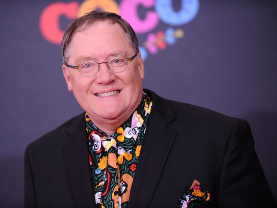 John Lasseter attends the premiere of 'Coco' at El
