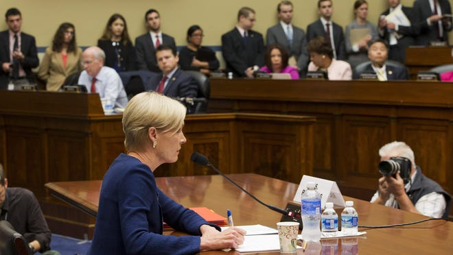 "Planned Parenthood Federation of America President Cecile Richards testifies on Capitol Hill in Washington, Tuesday, Sept. 29, 2015, before the House Oversight and Government Reform Committee hearing on ""Planned Parenthood's Taxpayer Funding."" (AP Photo/Jacquelyn Martin)"
