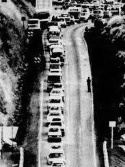 A photograph published in The Oregon Statesman shows