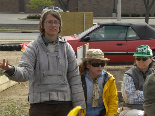 Activist Katie Kloth, seen here during a 2010 protest in Stevens Point.