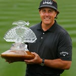 Phil Mickelson after winning the 2013 Waste Management Phoenix Open.