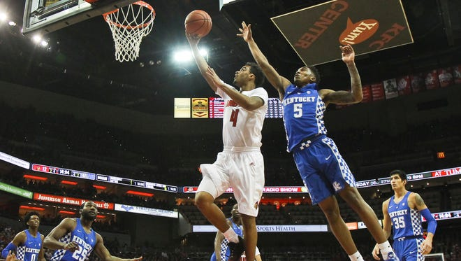 Louisville's Quentin Snider goes of his career-high 22 points to lead No. 10 Louisville past No. 6 Kentucky 73-70