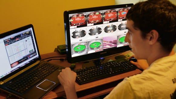 Daniel Sewnig of Fair Lawn plays online poker professionally.