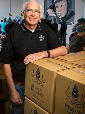 Make a Difference Day  - Meals from the Heartland Executive Director Dave Bradley at the organization's West Des Moines, Iowa, packaging facility on March 18, 2015.