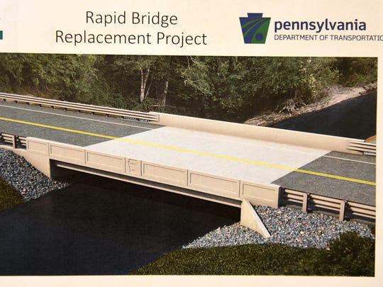 The Fisher Avenue bridge in Union Township will be replaced in 2017 and will look similar to this one provided in a brochure by PennDOT.