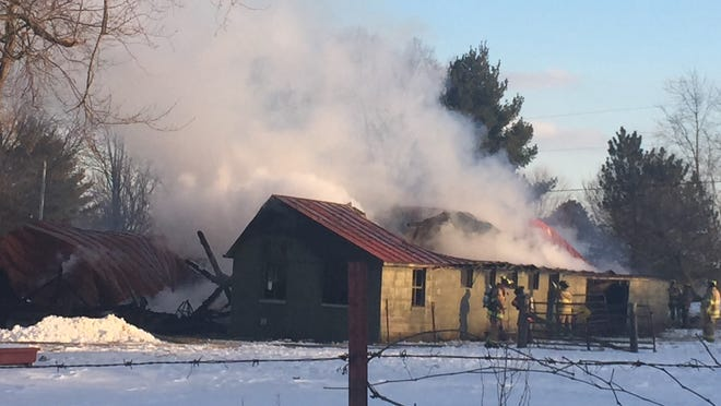 A fire at about 4:45 p.m. Friday destroyed a barn on the Hale property, just west of the entrance to Lakengren on Ohio 732 southwest of Eaton, Ohio.