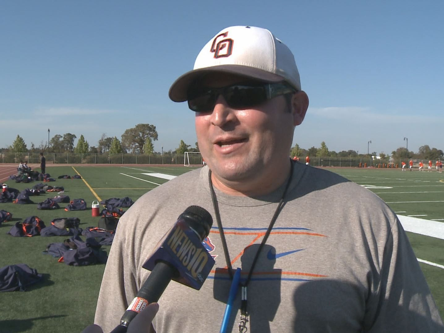 Cosumnes Oaks head football coach Ryan Gomes